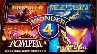 Aristocrat: Wonder 4 slot machine (Buffalo) - 4 Bonuses on a $1.60 bet  Part:1