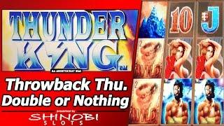 Thunder King Slot - TBT Double or Nothing, Live Play and Free Spins Bonus