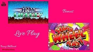 ( Aristocrat ) - Super Wheel Blast ( Miss Liberty ) -  Live Play & Bonus