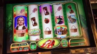 Wizard of Oz Slot Machine Max Bet Live Play -- Road to Emerald City and Ruby Slippers
