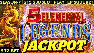 5 Elemental Dragons Slot HANDPAY JACKPOT - Awesome Session | SEASON-7 | EPISODE #21