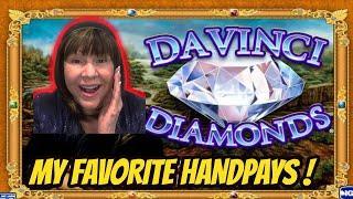 JACKPOT HANDPAYS ON MY FAVORITE DAVINCI DIAMONDS RE-VISITED