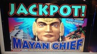 ***JACKPOT*** MAYAN CHIEF slot machine Bonus HANDPAY #5