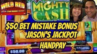 JACKPOT HANDPAY ON $50 BET MISTAKE! ALSO QUICK HIT HIGH LIMIT