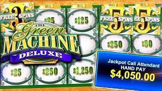 BIG MONEY JACKPOT ON GREEN MACHINE DELUXE ⋆ Slots ⋆ HUGE HIGH LIMIT WINS