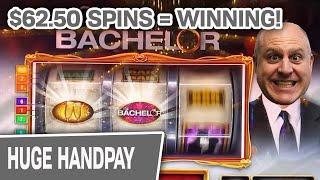 ⋆ Slots ⋆ Massive $62.50 Spins Have Me winning & Winning & WINNING ⋆ Slots ⋆ The Bachelor Slots @ Ca