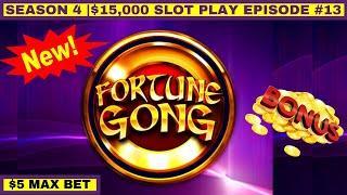 FORTUNE GONG Slot Machine Max Bet Bonus - GREAT Session   Season 4   Episode #13