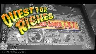 QUEST For RICHES Slot Bonus Win by KONAMI GAMING