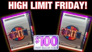• $100 WHEEL OF FORTUNE BACK TO BACK JACKPOT SPINS!!!! • • | Best HIGH LIMIT FRIDAY EVER!! •