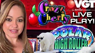 VGT SUNDAY FUN'DAY $5, $6 AND $10 BETS ON •️POLAR HIGH ROLLER•️, PIECES OF 8 & CRAZY CHERRY ••