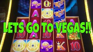 LETS TAKE A DRIVE TO VEGAS • 5 DRAGONS GRAND • LIGHTNING LINK • SLOT MACHINES AT THE COSMO!