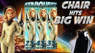 CHAIR HITS BIG WIN ON STAR QUEST SLOT (BTG) - 4€ BET!