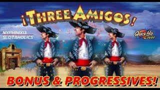 •NEW DELIVERY•  Ainsworth •3 Amigos Slot Bonuses & Progressive WINS!