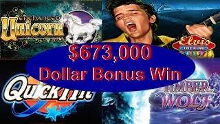 •$673,000 Thousand •Dollar Bonus Win Slot Machine Jackpot Handpay High Stakes IGT, Aristocrat • SiX