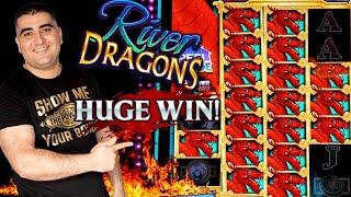 River Dragons Slot Machine $8.80 Max Bet Bonus - MASSIVE WIN | Live Slot Play At Casino & BIG PROFIT