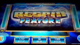 Stormin 7's Slot Machine Bonus with Respin Feature - Free Spins Win