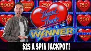 ★ Slots ★ $25/Spin JACKPOT HANDPAY! ★ Slots ★ I LOVE Heart Throb Lightning Link ★ Slots ★ BCSlots at