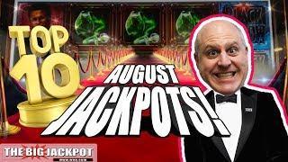 TOP 10 JACKPOTS! • Slot Machine Wins • August 2018!   The Big Jackpot