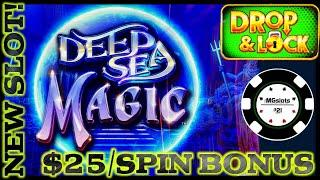 ★ Slots ★NEW SLOT Drop & Lock Deep Sea Magic ★ Slots ★HIGH LIMIT $25 BONUS ROUND LOCK IT LINK SLOT M