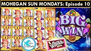 Back to Back Bonus! Wonka Dream Factory Slot Machine - Mohegan Sun Mondays Ep.10!
