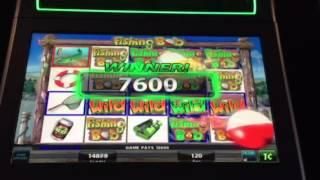 Fishing Bob Slot Machine 100X+ Line Hit Lucky Eagle Casino