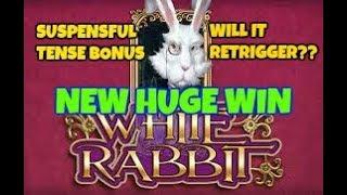 WHITE RABBIT (BIG TIME GAMING) HUGE WIN JUST A 50 PENCE STAKE!!