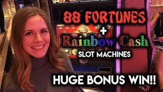 88 Fortunes HUGE Win! $8.80 Max Bet! Re-trigger!!!