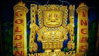 GOLDEN INCAS ** BONUS WIN!! ** 10c - ARISTOCRAT SLOT MACHINE