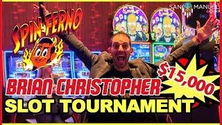 • $15,000 SLOT TOURNAMENT•  w/ Brian Christopher's #RUDIES • • San Manuel Casino in CA #AD