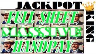 FULL SHEET OF COWBOYS MASSIVE ***JACKPOT HANDPAY***