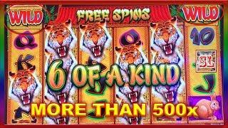 ** WIFE's SUPER BIG WIN at GREAT TIGER ** MORE THAN 500x  ** SLOT LOVER **