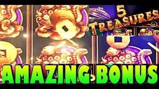AMAZING Recount of 5 Treasures AMAZING WIN and Bonuses