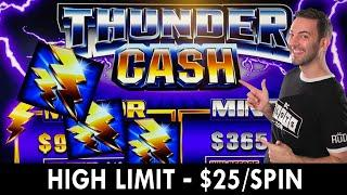HIGH LIMIT - $25/SPIN ⋆ Slots ⋆ Thunder Cash at Seven Feathers #ad