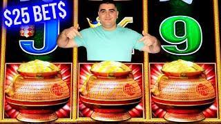 $25 Bet BONUSES On Dragon Cash Slot | High Limit Cleopatra & 3 Reel Slots | SE-12 | EP-10