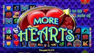 MORE HEARTS Video Slot Casino Game with a FREE SPIN BONUS