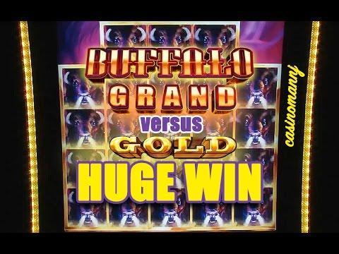 BUFFALO GRAND vs. BUFFALO GOLD SLOT - HUGE WIN!!! - Slot Machine Bonus
