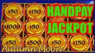 HIGH LIMIT Dragon Cash Link Autumn Moon HANDPAY JACKPOT ~ $50 Bonus Round Slot Machine EPIC COMEBACK