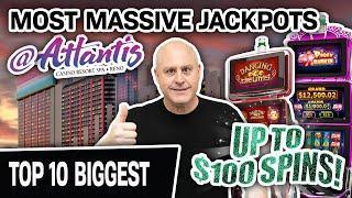 ⋆ Slots ⋆ My TOP 10 BIGGEST JACKPOTS at Atlantis in RENO! ⋆ Slots ⋆ Lock It Link, Dancing Drums, & MORE