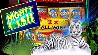 MIGHTY CASH•BIG WIN SLOT MACHINE•FULL SCREEN?•'TIGER VS JUNGLE•CASINO GAMBLING!