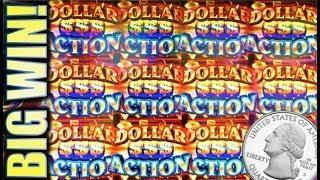 •DOLLAR ACTION BIG WIN!• 5-LINES MAX ON QUARTER DENOM (AINSWORTH) Slot Machine Bonus • mail4albert