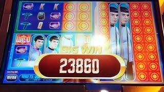 Star Trek Starship Enterprise Slot Machine-LINE HITS AND RED ALERT BONUS