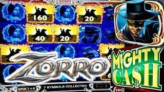 ZORRO SLOT MACHINE | MIGHTY CASH BONUS | BIG WIN!