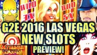 •G2E 2016• NEW 2016-2017 SLOT MACHINES SNEAK PEEK PREVIEW!! LAS VEGAS GLOBAL GAMING EXPO PREVIEWS