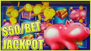 High Limit Lock It Link Piggy Bankin' HANDPAY JACKPOT $50 Bonus Round ⋆ Slots ⋆️ Dragon Link Spring