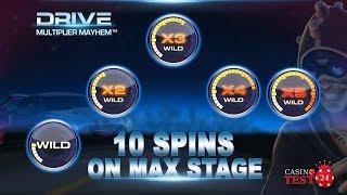 MEGA BIG WIN ON DRIVE: MULTIPLIER MAYHEM SLOT BONUS - 10 SPINS ON MAX STAGE