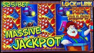 ★ Slots ★Lock It Link Eureka Reel Blast MASSIVE JACKPOT HANDPAY ★ Slots ★HIGH LIMIT $25 MAX BET BONU