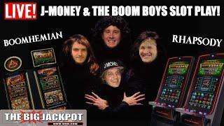J Money & the Boom Boys Return for LIVE Slot Play! The Big Jackpot