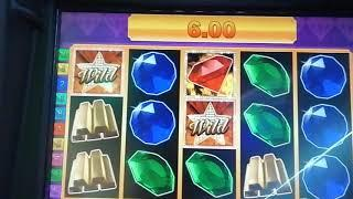 Again•it happened•up comes the feature on the Slot Machine.•Lets Get Cracking•