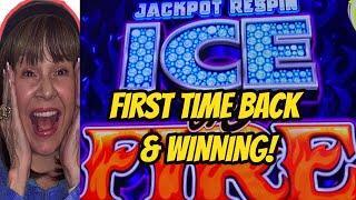 JACKPOT RESPIN ICE ON FIRE & BUFFALO BONUSES!