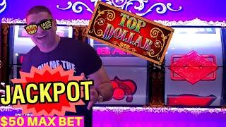 High Limit Double Top Dollar Slot Machine HANDPAY JACKPOT - $50 Max Bet | Lock It Link Slot BIG WIN